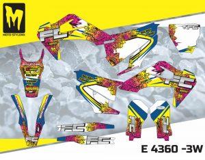 Moto-StyleMX full graphics decal kit. Fits Husqvarna FC & TC '19 -'21