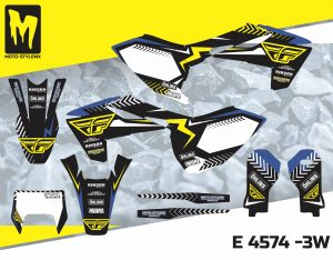 Moto-StyleMX full graphics decal kit. Fits Husqvarna FE & TE '17 -'19